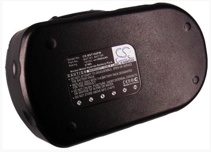 Cameron Sino 1500mAh battery for  BOSCH 13618 13618-2G 15618 1644 1644-24 1644B-24 1644K 1644K-24 1646K 1659K GDS 18 V-HT