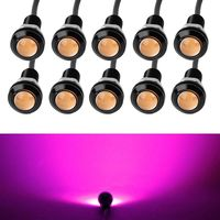 10 X 9W 18mm 12V 24V Purple Pink LED Eagle Eye Light Car Fog DRL Daytime