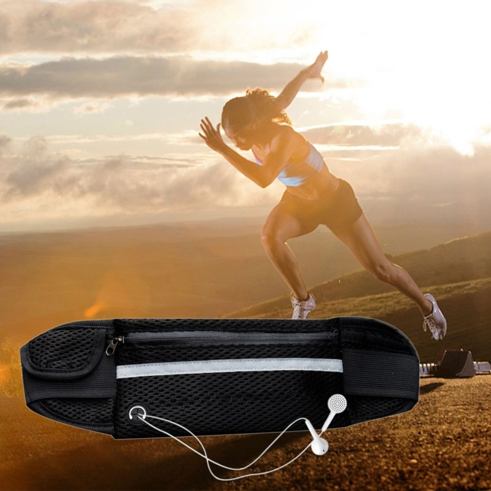 Multifunction Breathable Sports Waist Bag Cash Wallet Paper Towel Key Pouch Bag Mobile Phone Bag for Running Cycling 4 colors