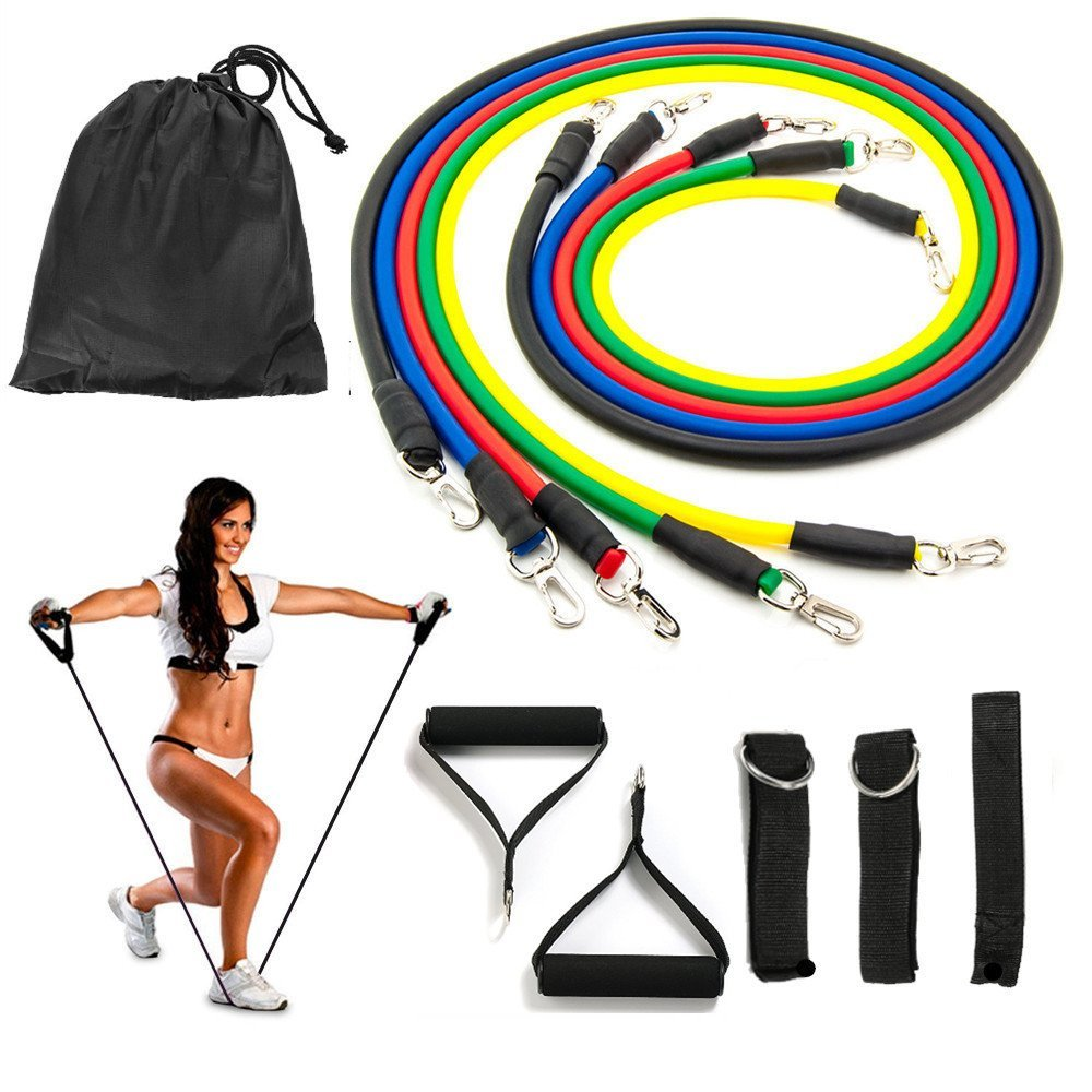 Exercise Bands With Handles Walmart: Resistance Bands Set, Exercise Bands, Fitness Bands