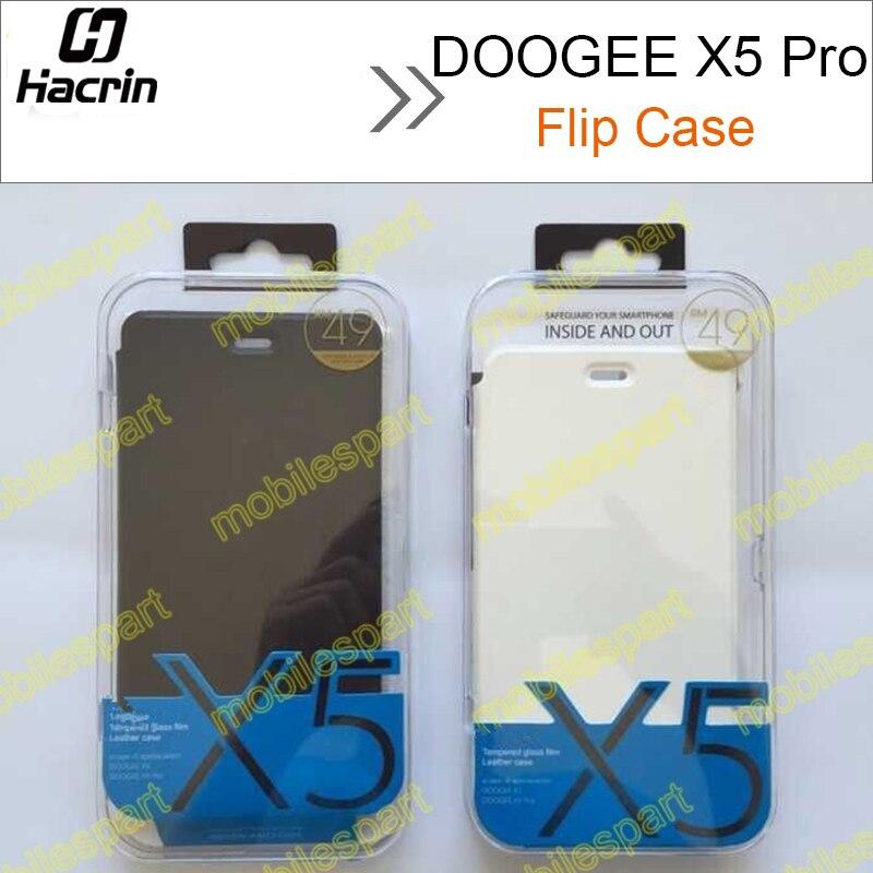 Galleria fotografica Hacrin pour DOOGEE X5 Pro Cas de Haute Qualité Flip Housse En Cuir + Trempé Verre pour DOOGEE X5 <font><b>Smartphone</b></font> Livraison gratuite