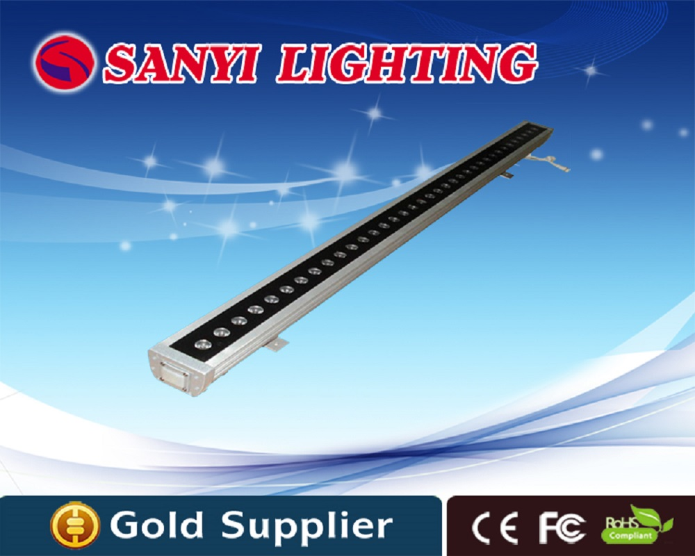 Wholesales Power 36W outdoor led lights wall washer LED Linear Bar 220V/24v RGB/Red/Blue/Green/White Color Option outdoor lamp flood lgiht ip65 led wall washer lamp 24 watts 24v 220v 240v white red yellow blue green rgb wall washer