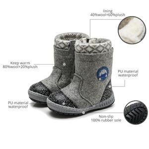 Image 4 - MMNUN צמר הרגיש מגפי חורף נעלי בני חם ילדי חורף נעלי ילדים קטנים שלג מגפי ילד נעלי חורף גודל 23 32 ML9425