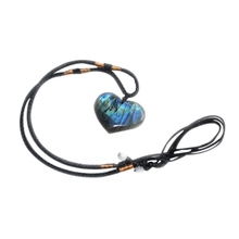 Natural Labradorite Moonstone Love Ocean Heart Pendant Jewelry Necklace Crystal Semi-Gemstone Energy Shape