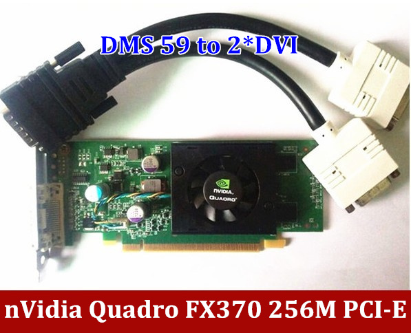 Original NVIDIA Quadro FX 370 FX370 256M DDR2 PCI-E DMS-59 Video Card griaphic card with DMS 59 Cable Free Shipping пазл для раскрашивания арт терапия царь зверей origami 360 деталей