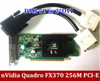 Original NVIDIA Quadro FX 370 FX370 256M DDR2 PCI E DMS 59 Video Card griaphic card with DMS 59 Cable Free Shipping