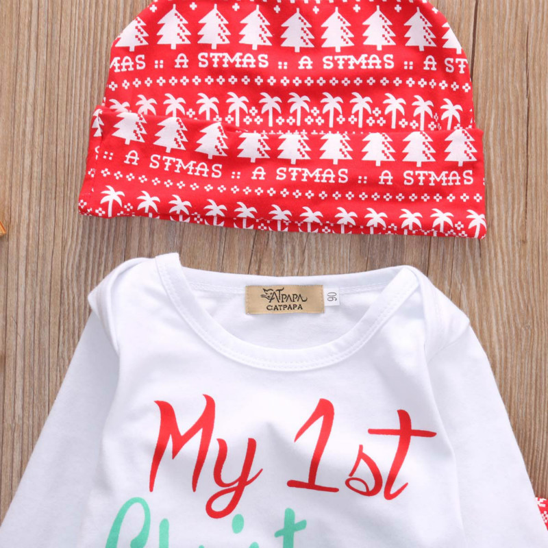 Newborn-Baby-Boys-Girls-Tops-Romper-Pants-Hat-3PCS-Outfits-Set-Christmas-Clothes-2