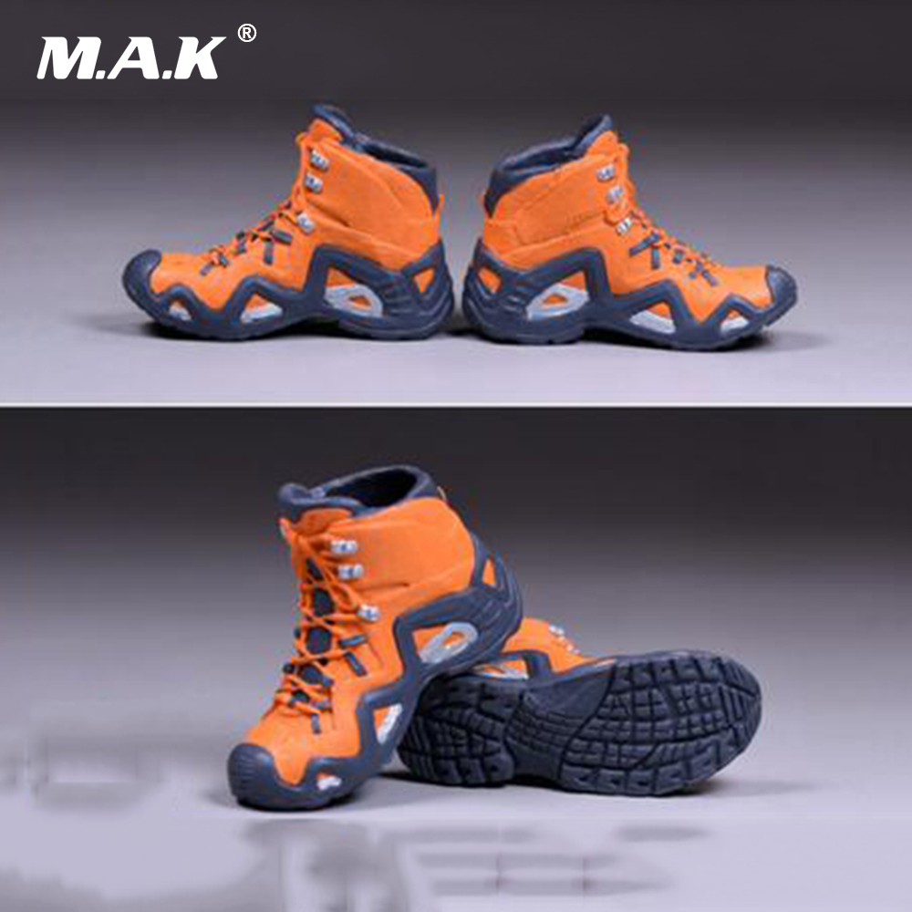 1/6 Scale Male Climbing Boots Solid Shoes Orange For 12 Man Action Figure Body