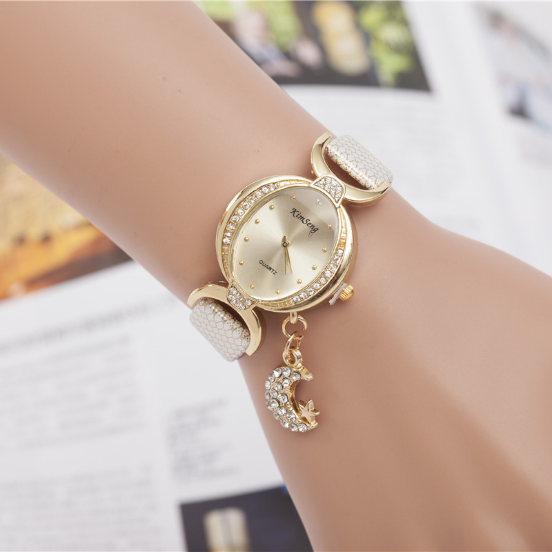 Price drop hot selling leather watch women fashion diamond quartz watch moon pendant high quality thin leather women watches new direct selling rw7 10 200a outdoor high voltage 10kv drop type fuse