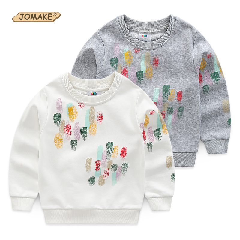 JOMAKE Boys Sweatshirts 2018 New Spring Brand Teens Boys Clothes Colorful Paint Children O-Neck Hoodies Casual Boy Pullover Tops