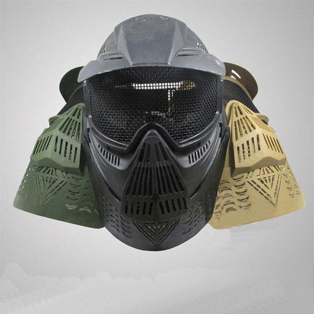Al aire libre táctico juego Transformers cualidad esencial máscara máscara protectora de seguridad transpirable y cómodo