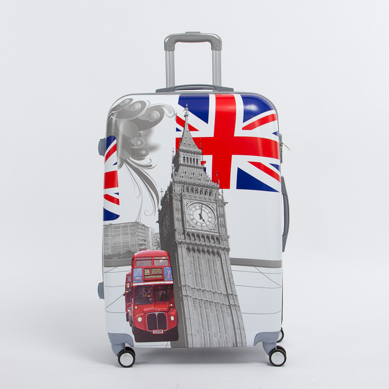 20 inch pc male and female hardside trolley luggage on universal wheels,uk flag,london tower,london bus travel rolling luggages салатник pasabahce red serenade цвет красный диаметр 23 см