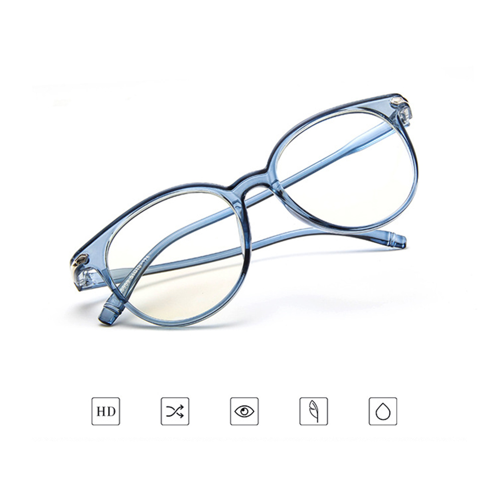 Prescription-Glasses Photochromic Ultra-Light-Frame Myopia Grey/brown Retro Round TR90