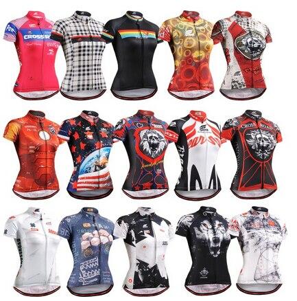 Prix pour Hot - vente à la vie sur piste femmes été maillots de cyclisme gros haute qualité femmes vélo maillot manches courtes tops
