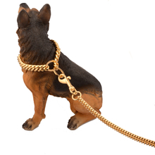 Dog Chain Collar Stainless Steel Slip Training Pinch Collars Pet  Gold Copper Choke Heavy Duty Chain Dog Leash for Middle Dog