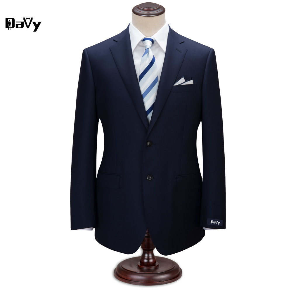 Custom Made wool Navy suit Men business suit party Wedding Tuxedos Groom men Customized Letters suits Men's Linen Tuxedo