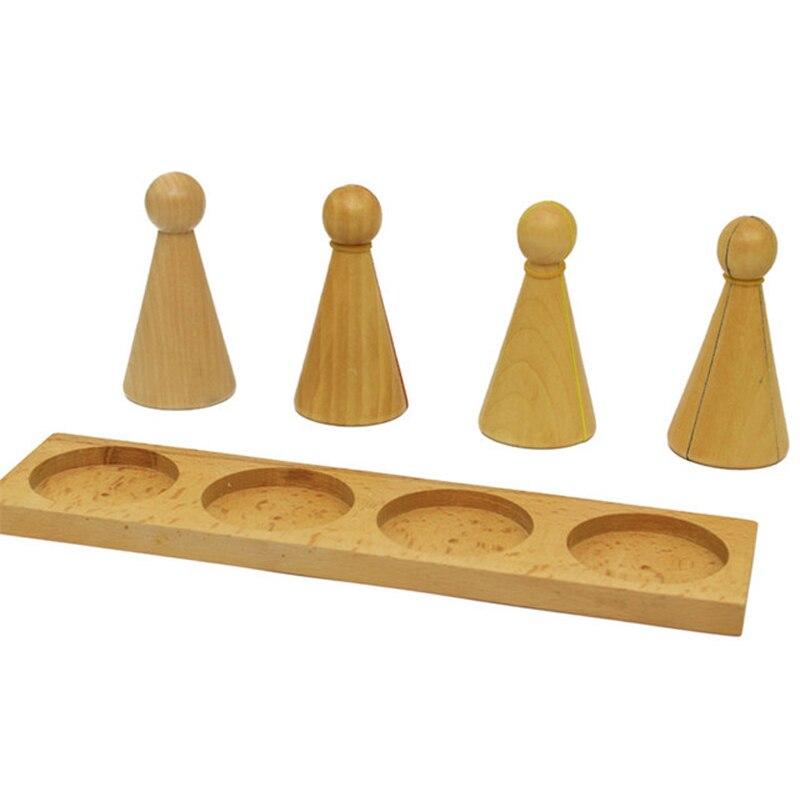 Bébé Montessori Fraction Puzzle jouets en bois jouets éducatifs mathématiques jouet apprentissage précoce