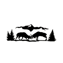 цена на Deer Buck Fighting Outdoor Cartoon Vinyl Decal Car Truck Window Motorcycle Cool Graphics Car Sticker