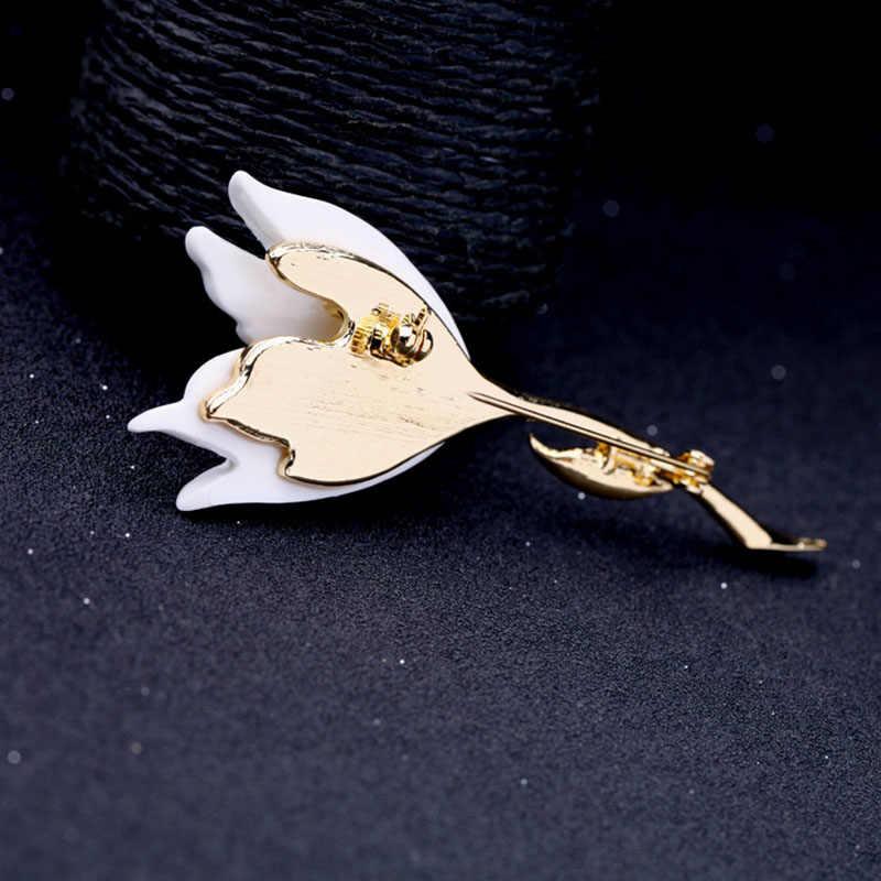 Baru Fashion Resin Bunga Tulip Wanita Bros Pin Lencana Perhiasan Aksesoris Handmade Wanita Cantik Bros Pesta Ulang Tahun A284