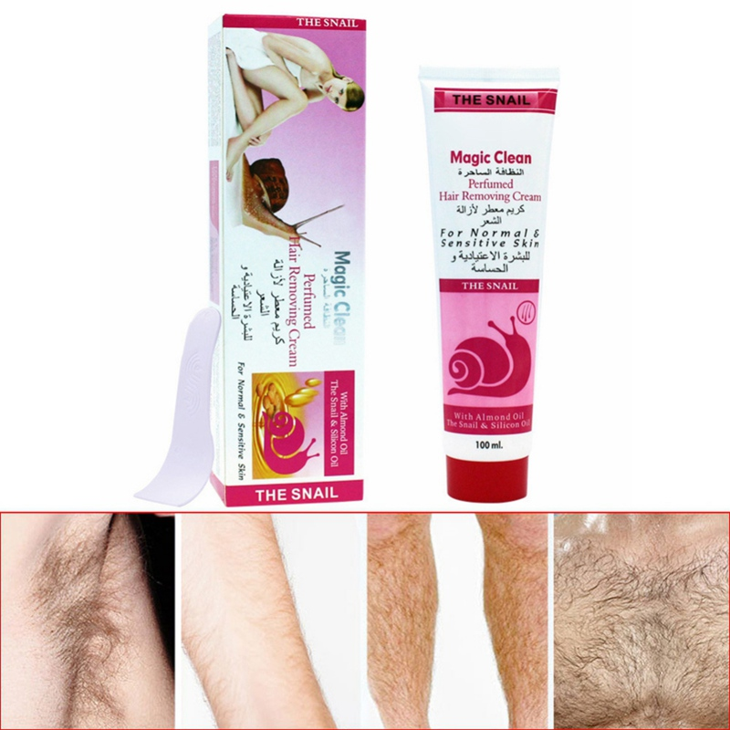 100g Cucumber/Aloe/ Snails Moisturizing Hair Removal Cream Natural Gentle Depilatory Cream Hair Removal 2019 1