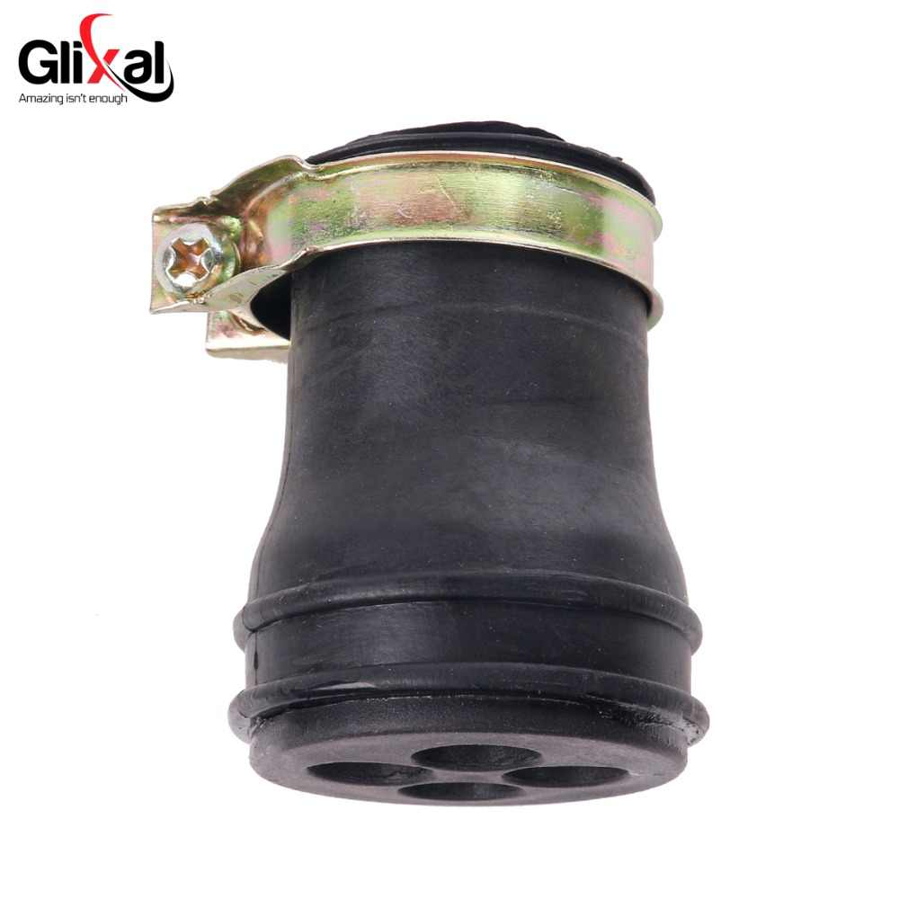 Glixal Short Intake Breather Tube for GY6 49cc 50cc 80cc 100cc 4-stroke QMB139 139QMB Engine CVT Covers