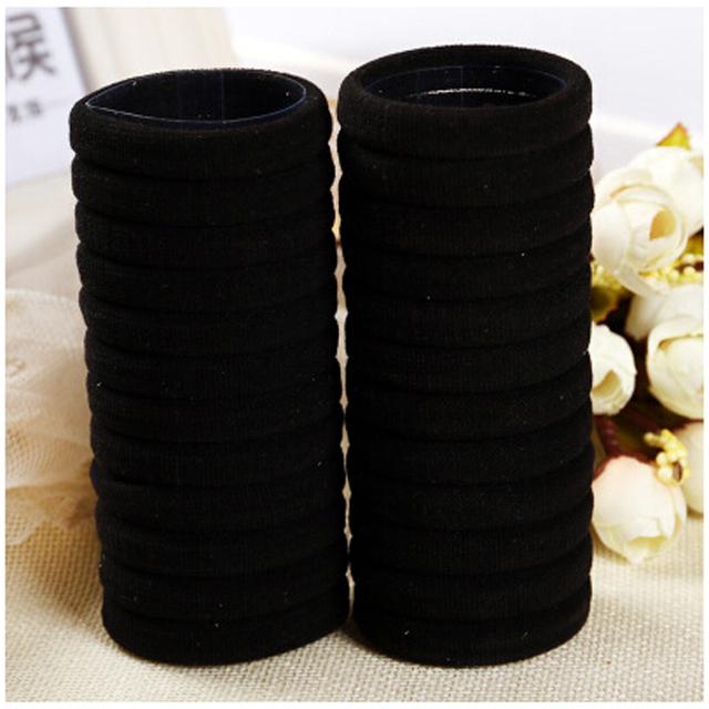 30Pcs Black Rubber Band Hair Ties