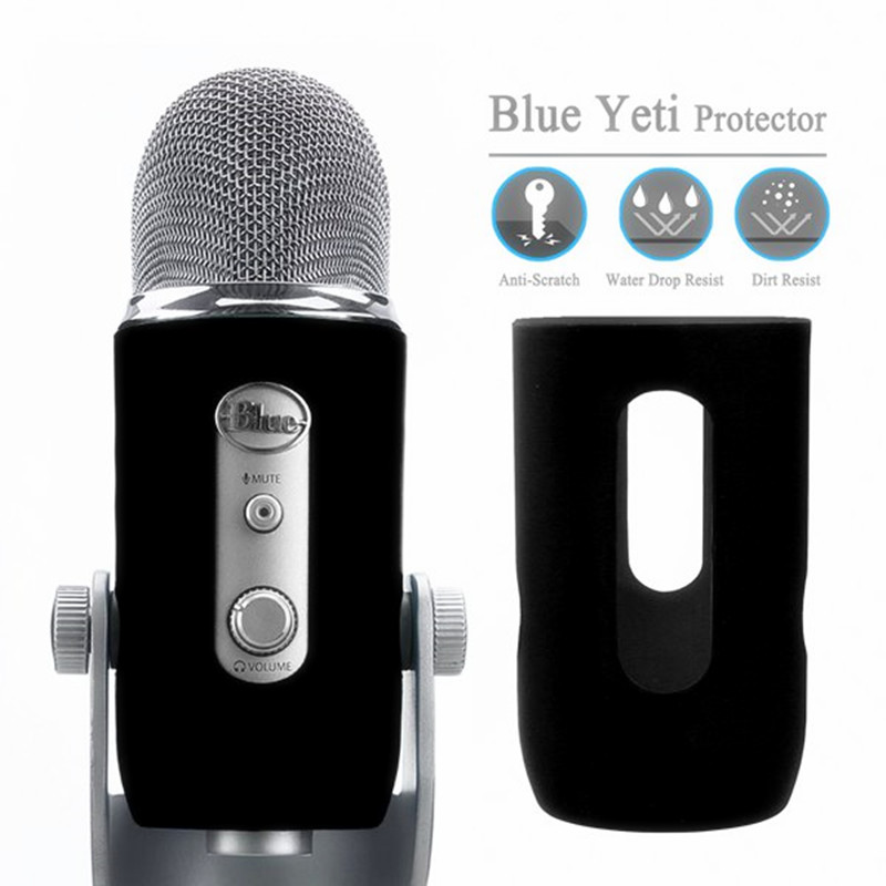 Hot Silica Gel Protector Provides For Blue Yeti Microphone Cover Soft Silicone Cover Protect For Blue Yeti Pro Mic Windscreen Pa