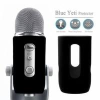 Protetor de gel de sílica quente fornece para azul yeti microfone capa de silicone macio proteger para yeti azul pro mic pára brisas pa|Acessórios de microfone| |  -
