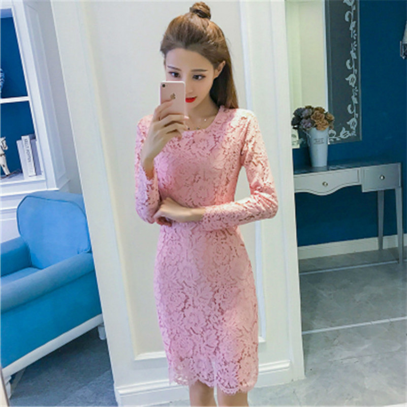 MUXU white lace dresses patchwork vestidos kleider sexy fashion clothes bodycon vetements summer dress women femme long sleeve in Dresses from Women 39 s Clothing