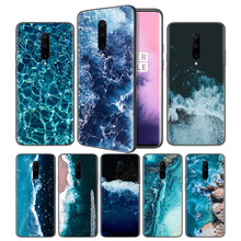 waves ocean water light refractionsSoft Black Silicone Case Cover for OnePlus 6 6T 7 Pro 5G Ultra-thin TPU Phone Back Protective