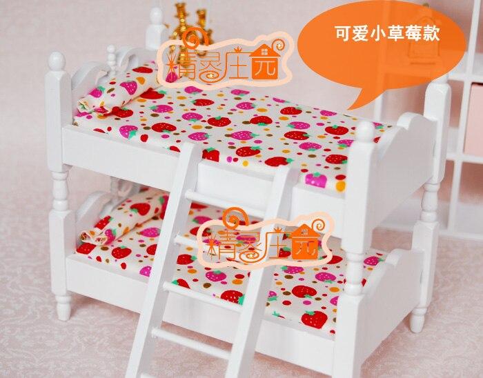 Etagenbett Für Puppenhaus : Miniatur puppenhaus schlafzimmer möbel puppe bett kinder baby