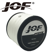 JOF 4Strands 1000M Fishing Line Brand Pink/Green/Grey/Yellow/Blue Braided Fishing Line Available 8LB-100LB PE Line Package(China)