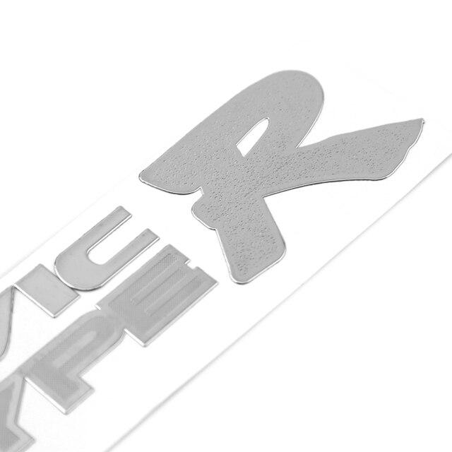 1pcs 8020mm car sticker design motorcycle accessories type r sticker car accessories custom nickel