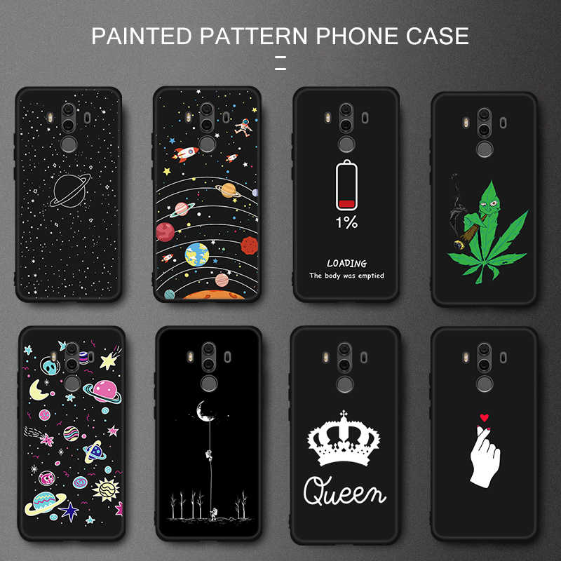 Cartoon TPU Case For Huawei P20 Lite Mate 10 Pro P10 P8 Lite 2017 Planet Pattern Soft Silicone Coque For Honor 9i 8 Lite Cover