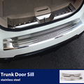 Accessories For Nissan X-TRAIL T32 Rogue Xtrail Stainless Steel Rear Bumper Trunk Threshold Door Sill Protector Cover