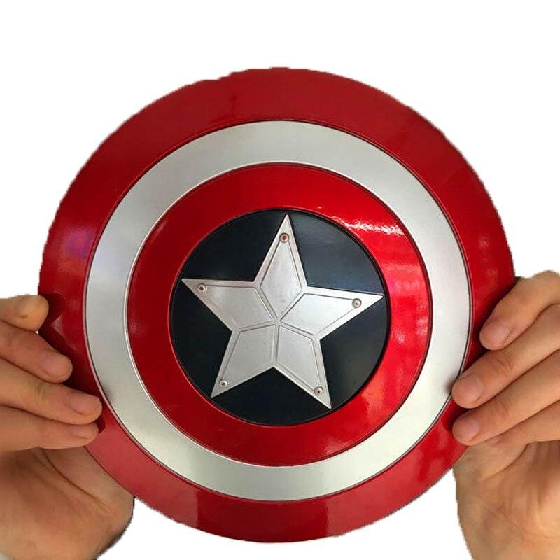 20cm Rotatable <font><b>Captain</b></font> <font><b>America</b></font> Shield Replica metal 1:1 cosplay toy 2016 New the <font><b>avengers</b></font> <font><b>Captain</b></font> <font><b>America</b></font> shield 1:1 metal adult