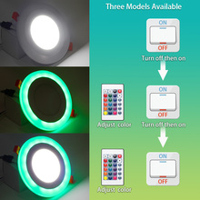 Dimmable Round/Square LED Panel Light with RC