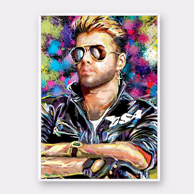 George Michael Music Star Art Canvas Poster Prints Home Wall Decor Painting