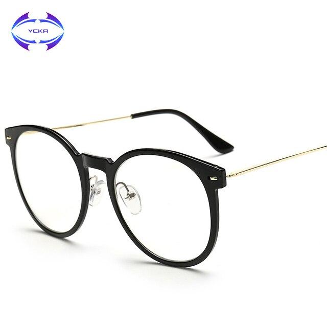 479a8f83ebd VCKA Retro Cat Eye Glasses Frame Brand Designer Fashion Women Half Frame  Eyeglasses Vintage Men Optical