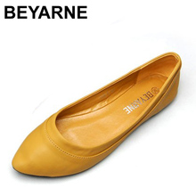 Mode 2016 Femmes Chaussures Glissement Femmes Appartements Chaussures Faux En Cuir Femmes Ballerines Casual Confort Ladies Chaussures En Gros