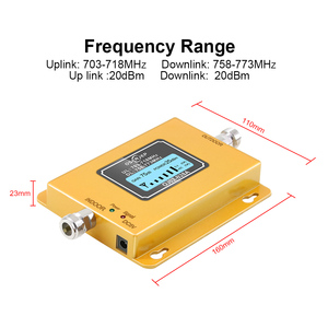 Image 3 - 70dB LCD LTE 700MHz B28A 4G Signal Booster Mobile Phone Repeater for Brazil