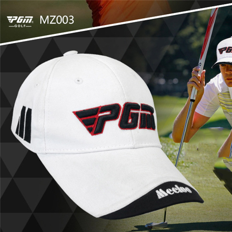 PGM Unisex Golf Hat Golf Caps Cotton Baseball Sunscreen Hat Breathable Quick Dry Top Cap Sport Peaked Cap Adjustable Range