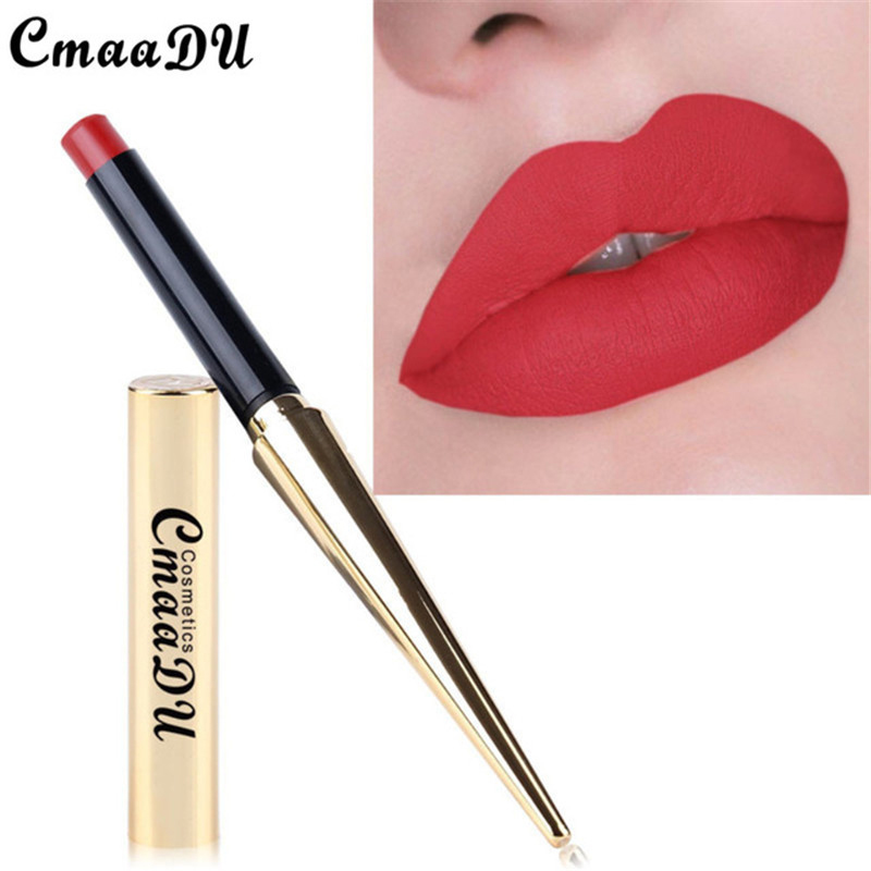 New Brand Sexy Matte Lipstick Batom Mate Nude Color Waterproof Long Lasting Makeup Lipstick Silky Texture Durable Lips Cosmetic image