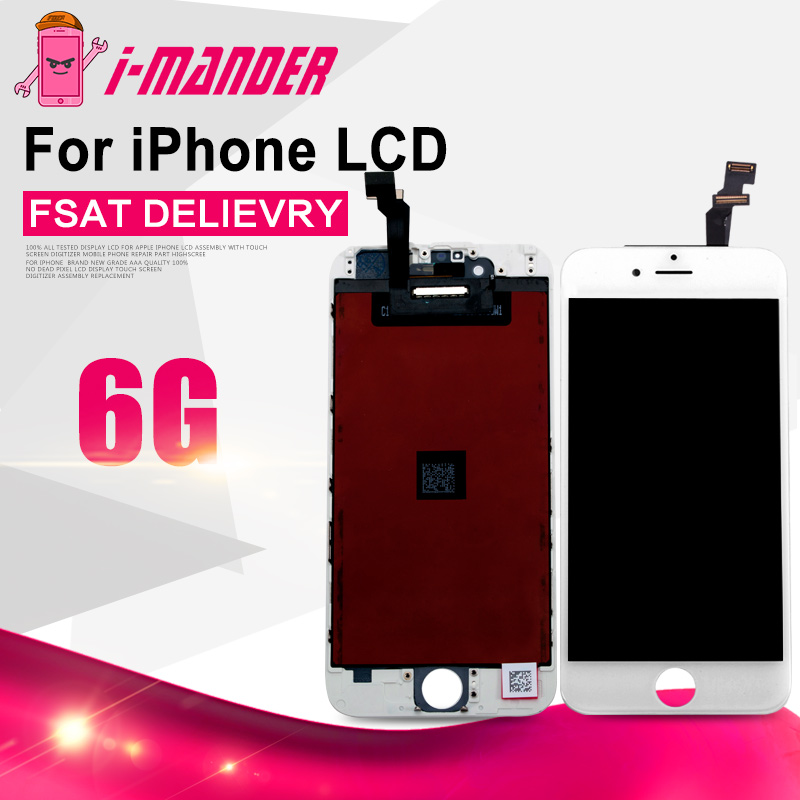 Prix pour Tm 10 pcs/lot pas de point aaa + + + pour iphone 6 lcd Assemblée complet avec Tactile Digitizer Remplacement Noir Blanc Livraison DHL gratuite
