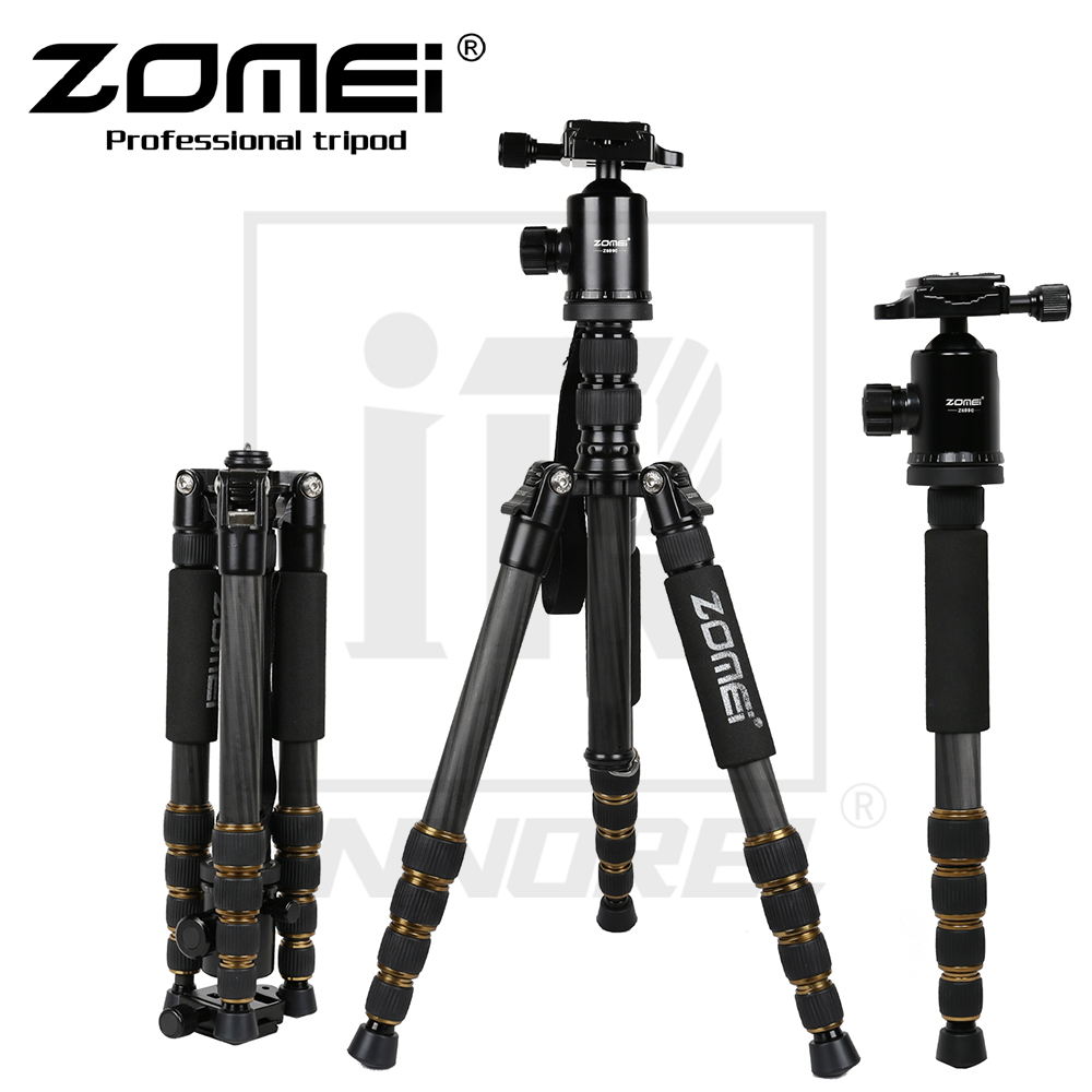 где купить Zomei Z699C Carbon Fiber Tripod Professional SLR camera portable travel Stand Monopod Ball head for Canon Nikon Sony по лучшей цене