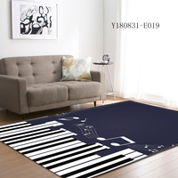 Muzzi Creative modern Type piano Printing Carpet Hallway Doormat Anti Slip Bathroom Carpet Absorb Water Kitchen large Mat/Rug