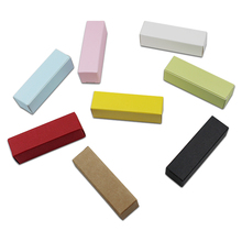 50Pcs Colourful Mini Gift Kraft Paper Packaging Boxes Lipstick Paperboard Packing Boxes for Wedding Party Anniversary Package 50pcs small white kraft paper package box retail lipstick package cardboard boxes handmade soap candy jewelry gift packing box