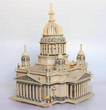 Building Model Wooden Puzzle