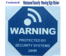 5 PCS NEW good quality alarm Sticker waterproof Warning Sign for Security alarm systems Surveillance Decals