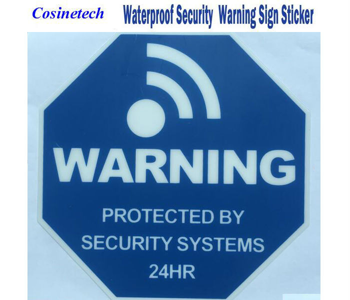 5 PCS NEW good quality font b alarm b font Sticker waterproof Warning Sign for Security